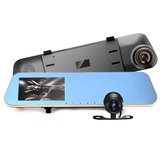 4.3 Inch HD 1080P Car DVR Mirror Camera Rear View Dual Lens Night Vision Loop Video