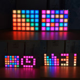 Geekcreit® DIY Multi-función LED Cool Music Spectrum RGB Color Palette Reloj Kit