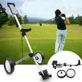 Chariot de golf pliant deux chariot de traction portatif de golf de traction de chariot
