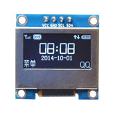 0.96 Inch 4Pin White LED IIC I2C OLED Display With Screen Protection Cover Geekcreit for Arduino - products that work with official Arduino boards
