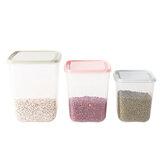 3 stuks roze / groen / blauw voedselgranen scherper doos keuken verzegelde opslagcontainer