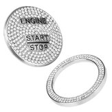 Start Stop Engine Button Repair Switch Protection Cap Switch Cover Ring Trim For Benz C Class W205