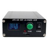 Nuevo sintonizador automático ATU100 Antena 100W 1.8-55MHz / 1.8-30MHz con Batería ensamblado en el interior para estaciones de onda corta Radio de 5-100W