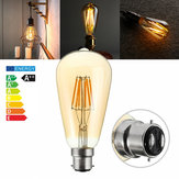 Dimmable Vintage ST64 B22 6W LED Squirrel Cage Edison Light Bulb Filament Lamp AC220V