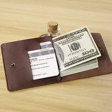 Vintage Genuine Leather Simple Mini Wallet Card Holder