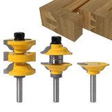 Drillpro 3-tlg. 8-mm-Schaft-Eingangsstange und Ogee-Fräser Bit Innentür Verschiedene Fräser Bit Holzbearbeitungswerkzeuge