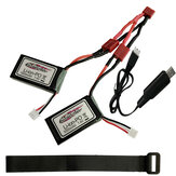 2PCS Xinlehong 7.4V 1000MAH Lipo Battery For Q901 Q902 Q903 1/16 2.4G RC Car Parts With Bandage