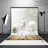 5x7 pés do boneco de neve natal placa da parede estúdio de fotografia backdrop Fotografia