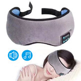 Wireless Bluetooth 5.0 Earphones Eye Mask Stereo Music Sleep Headset Travel Eye Shades with Built-in Speakers Mic