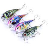 ZANLURE4PCS5.5CM9G釣りはバスカンク釣りを誘惑する釣りの餌のつかみを生き生きとした3D目ルアー
