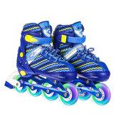 Adjustable Inline Skates Winter Snow Speed Skates Straight Row Skates Breathable Comfortable Adjustable Roller Blades for Adult Kids