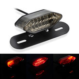 Luz traseira do freio integrado da motocicleta 12V e luz da placa dos sinais de mudança de direção