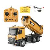 HuiNa1573RCCar1/14トラックMetalBulldozer充電RTRトラック建設車両Kids Toys