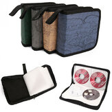 40 CD CD Holder DVD Caso Carteira de armazenamento VCD Organizer Faux Leather Bolsa Random
