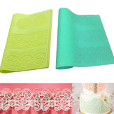 Large Silicone Lace Flower Mat Embosser Fondant Cake Mold Flower Pattern Baking Tools