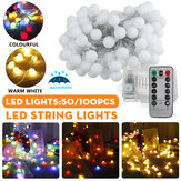 2M / 5M / 10M Batterie Powered LED Lichterkette 8 Modi Globe Bulb Ball Feenlampe für Patio Outdoor Garden Weihnachtsfeier Dekor