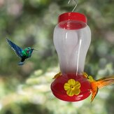 Bird Water Feeder Bottle Hanging Hummingbird Feeder Garden Outdoor Plastic Flower Iron Hook Bird Feeder For Outside / Inside