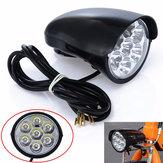 BIKIGHT2800LM7xالمصابيحالدراجةالجبهة ضوء معدن شل 80db القرن الكهربائية سكوتر المصباح