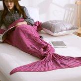 Honana WX-29 3 dimensioni filati per maglieria coda di sirena coperte coperte di fibre Soft Home Office Sleep Borsa Bed Mat