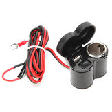 12-24V 7/8inch 1inch USB Charger With ON OFF Button Waterproof Power Cap Motorcycle