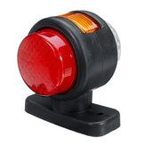 12 V-24 V 11 LED Dubbel Zijmarkeringslicht Indicator Lamp Rubberen Omtrek Voor Trailer Truck Caravan Van