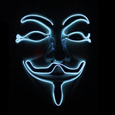 Halloween V-Vendetta Maske LED Luminous Flashing Gesichtsmaske Party Masken Leuchten Tanz Halloween Cosplay