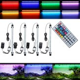 38CM 5.9W RGB LED Aquarium Fish Tank Light SMD5050 Color Changing Bar Submersible Lamp + Remote Control AC110-240V