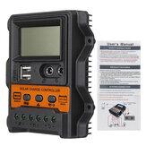 12V / 24V 10A/20A/30A Napelemes akkumulátor-szabályozó automatikus töltésvezérlő
