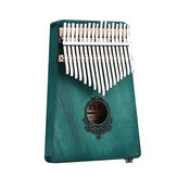 17 Keys Mahogany Wood Kalimba African Thumb Piano Mini Keyboard Percussie-instrument