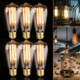 6 PCS ST64 40 W E27 Dimmable Edison Filamento Do Vintage Antigo Lâmpada Incandescente AC220V