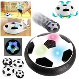 Children Floating Football Disc Toys With LED Lights Mini Hovering Multi-surface Ball Indoor Gliding Air Suspended Football