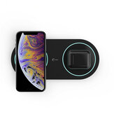 Bakeey 2 in 1 15W Wireless Charger Fast Charging For iPhone XS 11Pro Huawei P30 Pro P40 Mate 30