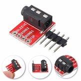 10 unids 3.5mm Plug Jack Stereo TRRS Headset Audio Enchufe Breakout Board Extension Module