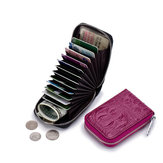 Women Genuine Leather 12 Card Slot Mini Coin Purse