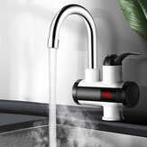 3000W Instant Electric Heating Faucet Cold&Hot Mixer Temperature Digital Display Bathroom Kitchen Single Handle Water Tap