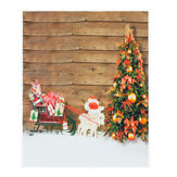 5x7ft Christmas Tree Sled Photography Backdrop Studio Prop Background