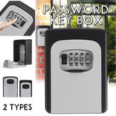 Outdoor Wall Mounted Key Safe Combination Lock Storage Box 4-Digital Password