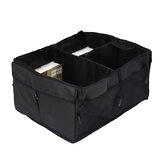 56cm x 41cm x 27cm Car Trunk Organizer Storage Box - Non Slip Strips to Prevent Sliding Secure Straps