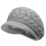 Vrouwen Ladies Haak gebreide Cotton Blend Beret Hat zachte warme pluche Linnen Ski baseballcap