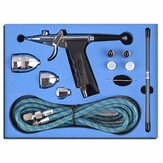 0.3/0.5mm 116K Double Action Spray Gun Trigger Airbrush Set with Tips 3 Cups Spray Gun Model Air Brush for Nail Tool /Car Paint