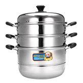 28 / 32cm 3-laags roestvrijstalen steamer kookgerei kookpotten set kookgerei voor in de keuken