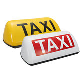 Impermeable Taxi Roof Top Sign Light Taxímetro Magnético Cab Halógena Lámpara 12V Blanco Amarillo
