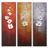 3 stuks bloemen canvas schilderij muur decoratieve print kunst foto's frameloze muur opknoping decoraties voor thuiskantoor