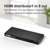 Bakeey HDMI HD Audio Video Splitter Adapter 1080P HD Adapter With 8 * HDMI Output / 1 * HDMI Input For Nootebook DVD Player TV