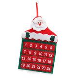 NoelAdventDuvarAsılıKeçeAsılı Takvim Santa Ren Geyiği Kardan Adam Süslemeleri Cepler