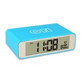 LED Touch Luminous Digital Electronic Creative Night Light Flip Snooze Mechanical Desk Alarm Clock Intelligent Digital Alarm Clock Table Clock Watches Electronic Top Touch Sensor Digital Alarm Clock D