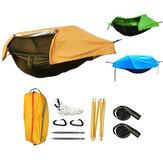 昆虫ネット超軽量ハンモック空中テントポータブル屋外キャンプ270x140cmで多機能防水防風テント