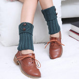 Women's Button Knitting Boot cuff Crochet Toppers Socks Leg Warmers For Boot Socks