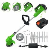 88V Electric Cordless String Grass Trimmer Cutter Garden Edger + 1/2 battery