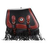Universal Waterproof Pair PU Leather Motorcycle Tool Bag Storage Luggage Saddlebags